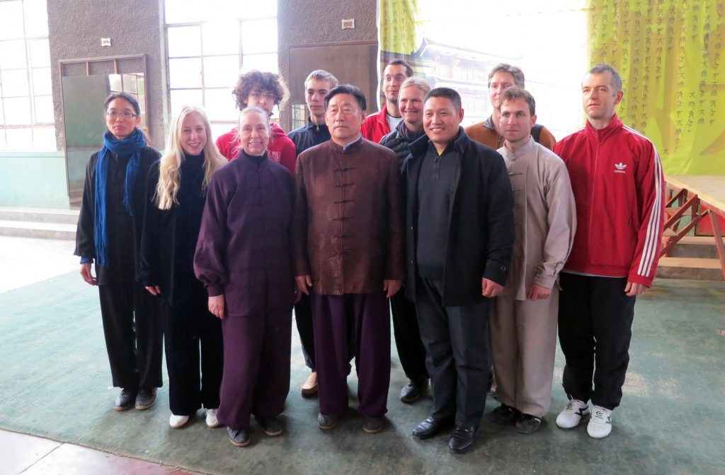 A group photo after a workshop with Chen Xiaowang