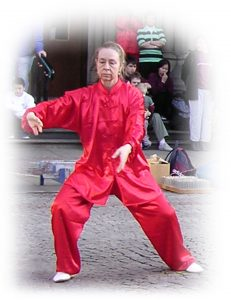 Chris Jones performing taijiquan