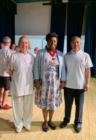 Cllr Francis with Master Liu and Chris