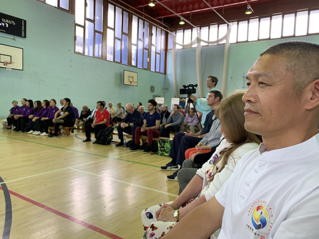 Edinburgh, Shifu Liu watching the presentation
