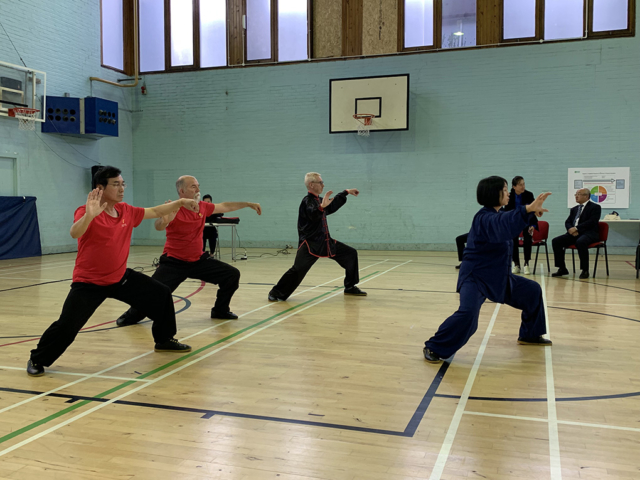 Edinburgh tai chi group perform with Wen Li