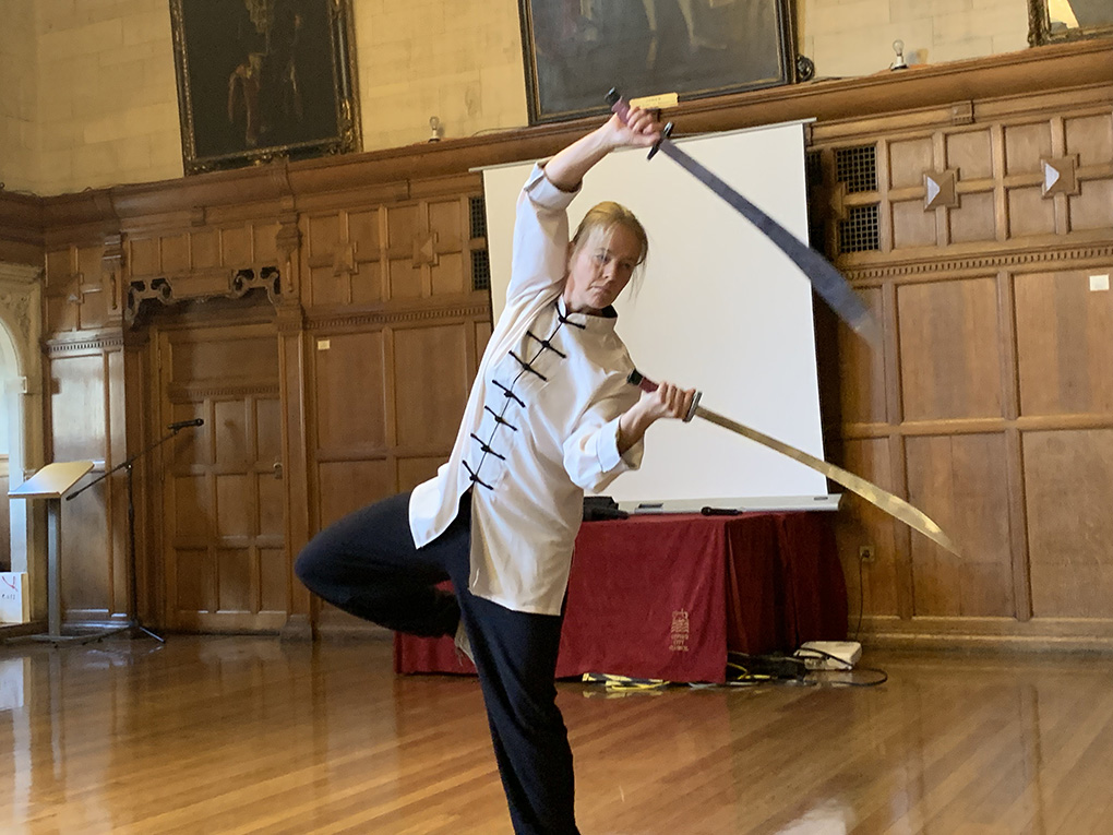 Emma from Chen Bing Academy Oxford performs Double sabres