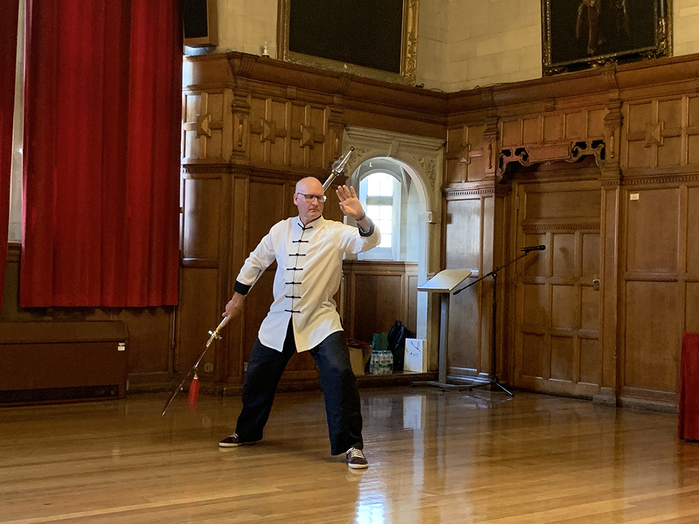 Phil from Chen Bing Academy Oxford performs Chen Halberd