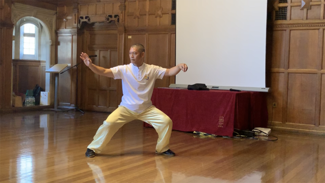 Shifu Liu performs Xinjia at the Oxford event